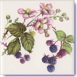 Berries Design on Decorative Ceramic Tiles