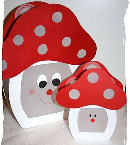 Een paddenstoel lampion