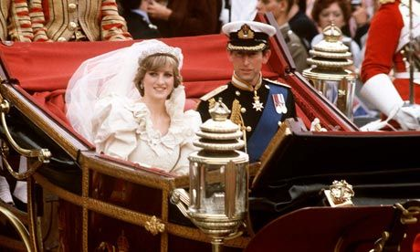 I got up early to watch Charles & Lady Di get married on tv. Like pretty much all young girls I thought she was getting the fairy tale life. It sure wasn't.
