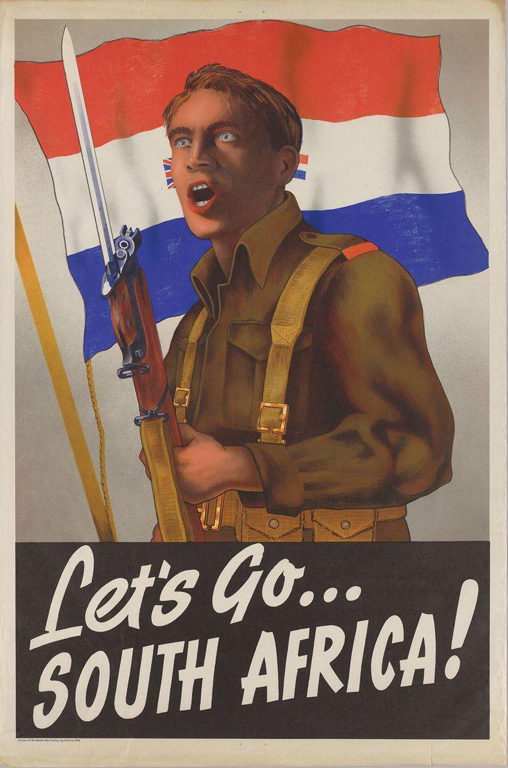 south african WW2 propaganda poster