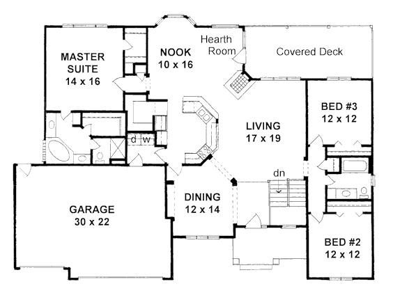 2002 sq ft 3 bed 2 bath no schoolroom on main floor open for 2000 sq ft house plans with basement