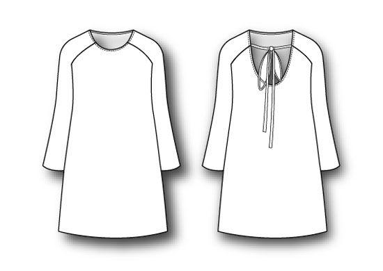 Vestido con manga ranglan: DIY