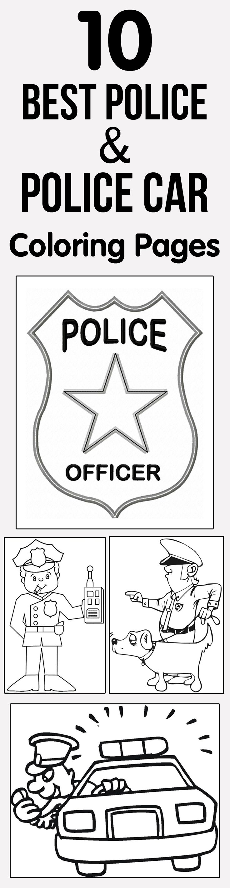 childs coloring pages about police - photo#35