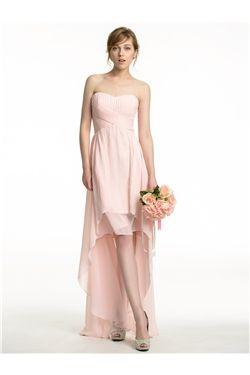 Zipper-up Chic & Modern Spring Pleats Wedding Party All Sizes A-line Sleeveless Dress