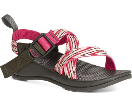 Chaco Kids: Z1 Ecotread Little Kid/Big Kid (Incan Rose) The Chaco Kid's Z1 Ecotread sport sandal is a girly, yet sporty sandal that's ready for action. This waterproof outdoor style offers a completely anatomically contoured footbed with nylon adjustable strap in the Custom Adjust'em system offering a secure fit around kids' feet. Cool graphic Rose, Orange, White and Brown pattern adds a spark of fun. Designed by a Podiatrist this shoe offers exceptional support