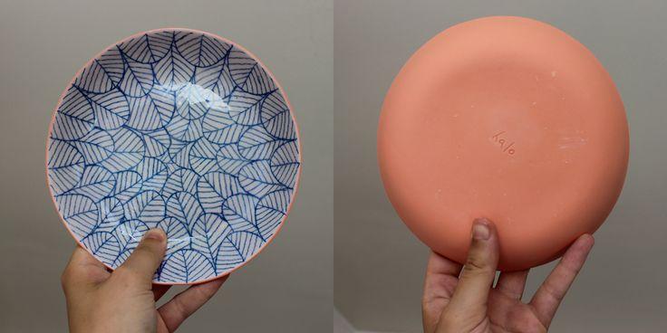 Assiette creuse - porcelaine atelier Halo