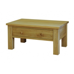 Contemporary Solid Oak QPCT Coffee Table With Draw  www.easyfurn.co.uk