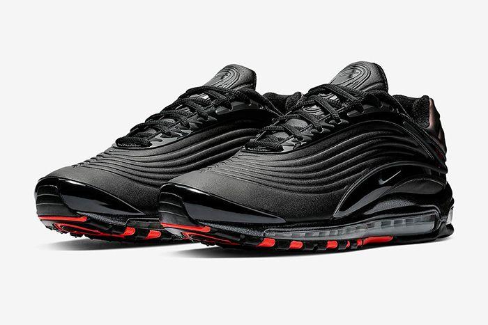 e7ed2f0440c6d8 Nike Air Max Deluxe Se Black Anthracite Bright Crimson 1