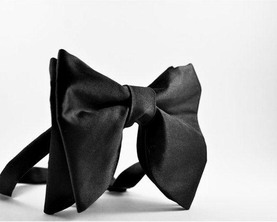 Tuxedo Bowtie,Love Heart Patterns,Men Classic Pre-Tied Satin Tie
