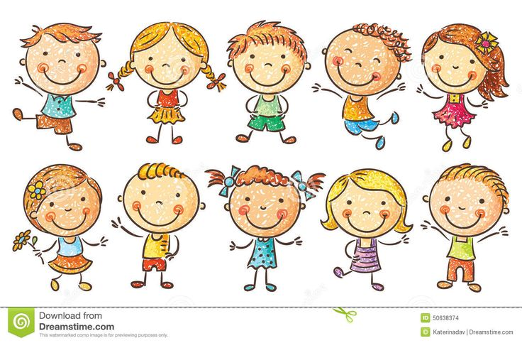 Happy School Kids Cartoon Waving Hand Stock Vector - Image: 50839546