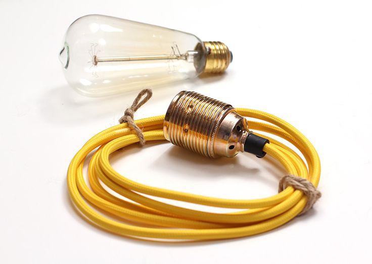 Lampa ByLight kabel żółty | sklep z lampami bylight.pl