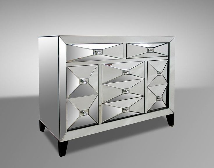Warwick Mirrored Dresser With Contemporary Style