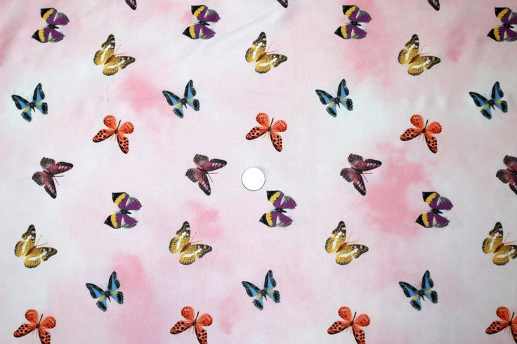 Fabric Lycra spandex swimwear dance ballet pink white background with butterflies  58 inches wide 4 way stretch BTY per 1/2 yard by DancewearByDiana on Etsy