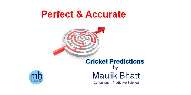 Maulik Bhatt is Ahmedabad based renowned Cricket Match Predictor in India that we provide accurate Cricket Match Prediction Tips for Today Cricket Match Result at reliable cost. If you can check our past performance report of Cricket Match Predictions Services then you may understand our accuracy. We assist you to make big money using our best Cricket Match Predictions for cricket betting tips.