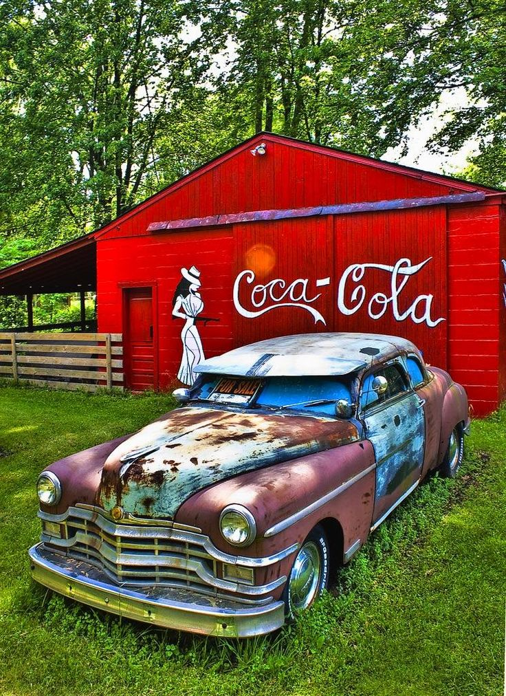 Old Barn Vintage Car South of Metro Airport Michigan - Pixdaus