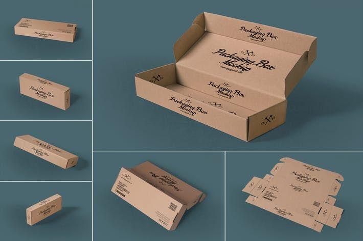 Download 7 Rectangular Packaging Box Mockups By Zippypixels On Envato Elements Box Mockup Packaging Mockup Box Packaging
