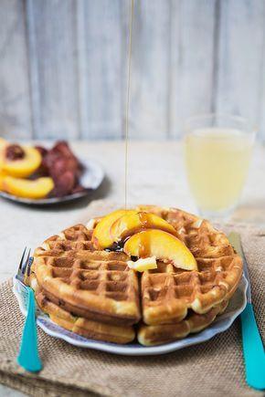 Receta simple para waffles crujientes
