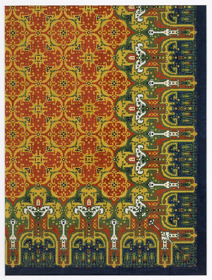 Ontwerp voor een tapijt | M.D. Renssen (1883-1971) | 1900 / 1919 | Deventer Musea | CC BY-SA
