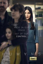 Humans (2015) is a British science fiction drama about robots, drawing from various sources. There is a girl genius, as in Caprica, a little girl who loves the robot, as in Bicentennial Man, a robot detective, as in some Asimov novels, someone who wants to stop the singularity from happening, as in the Sarah Connor Chronicles, and a sentient killer robot, which are common in Battlestar Galactica.