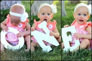spelling baby. So cute! Could do this every year as well.