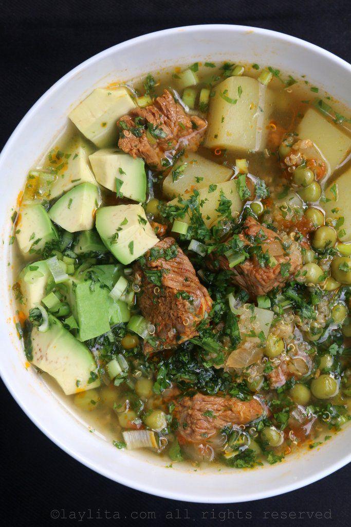Quinoa soup with beef {Sopa de quinua con carne}