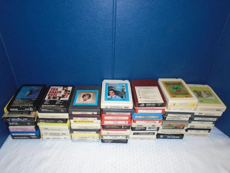 Assorted 8 track tapes. 8 track tapes. 8 track tape. eight track tapes. recorded music. old 8 track tapes. by Montyhallsshowcase on Etsy