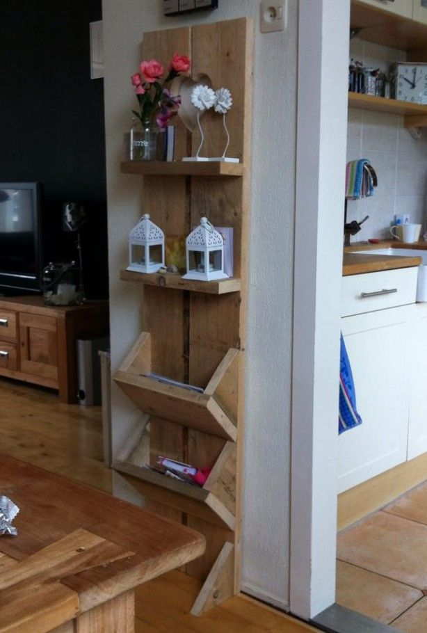 I like the idea of folding shelves for space saving