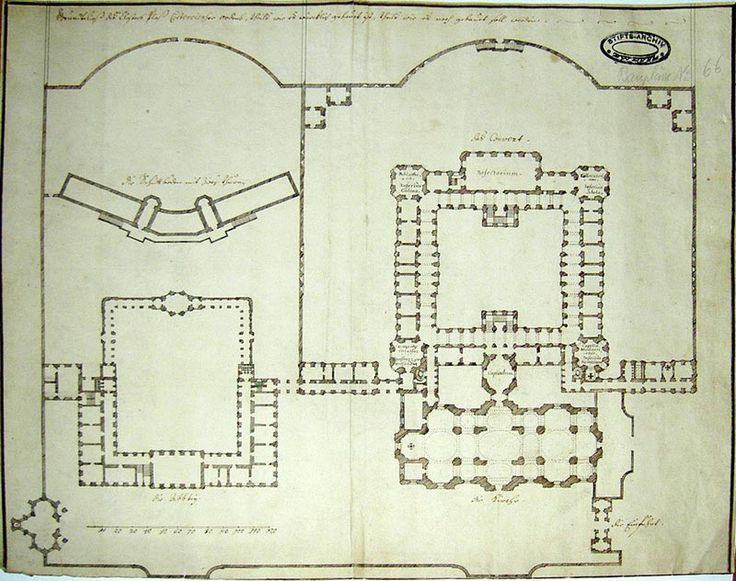 Plasy monastery - original ground plan
