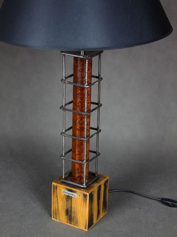 Lampa industrialna rdza loft