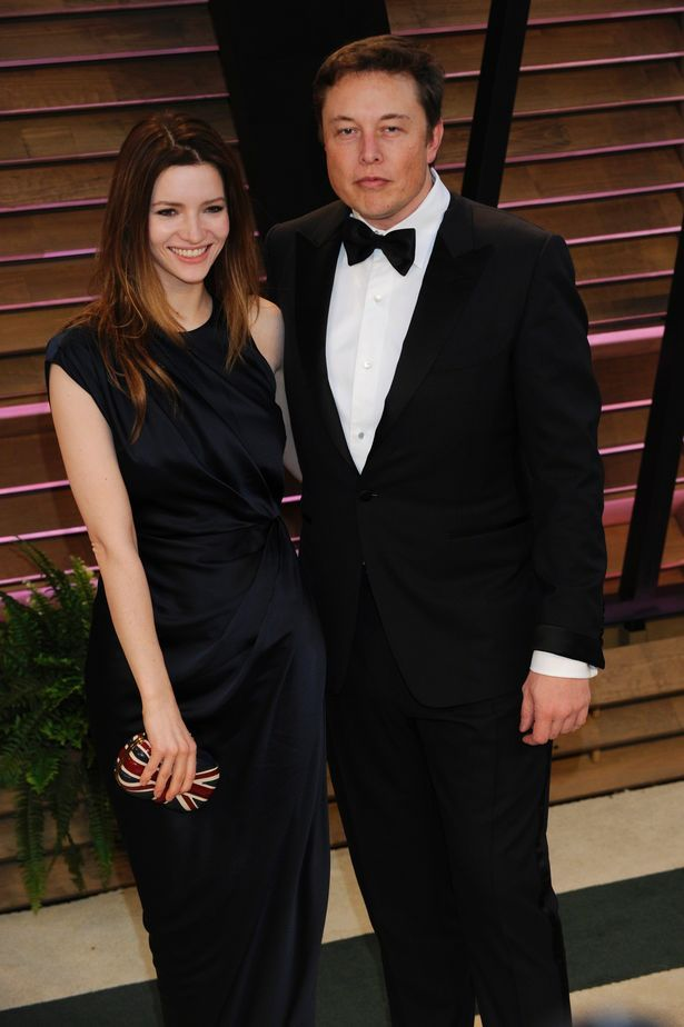 Talulah Riley and Elon at the Vanity Fair Oscar Party in 2014 - the couple are getting divorced for the second time