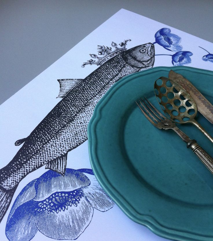 Fish paper placemat