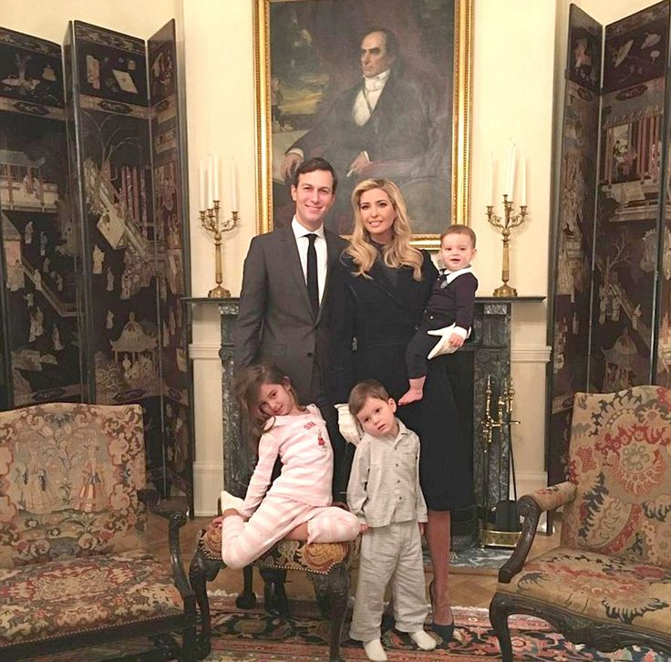 Ivanka shares a family photograph titled Blair House - lodgings close to the White House used traditionally by incoming presidential families
