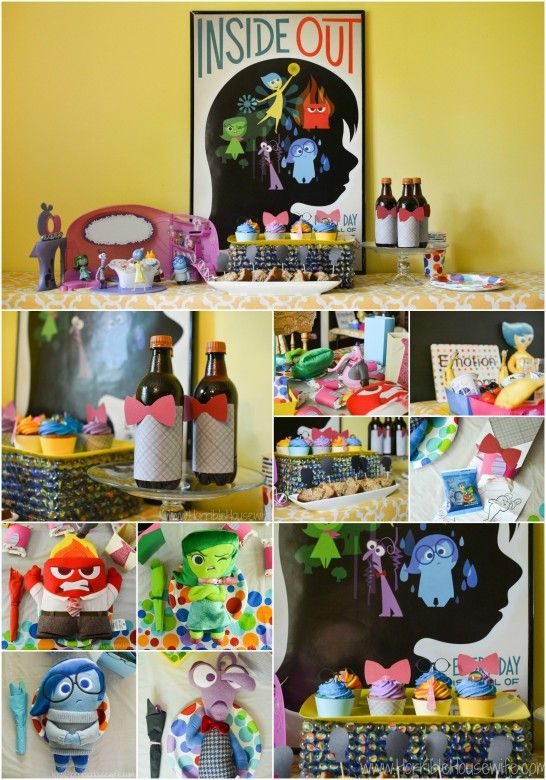 Inside Out party plan- diy memory box, Inside Out coloring party favors, emotion potions smoothie bar, and more! #InsideOutEmotions (ad)