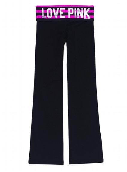 Bootcut Yoga Pant-Victoria's Secret Pink  I swear I am the only girl at my school who doesn't own a single pair of these.
