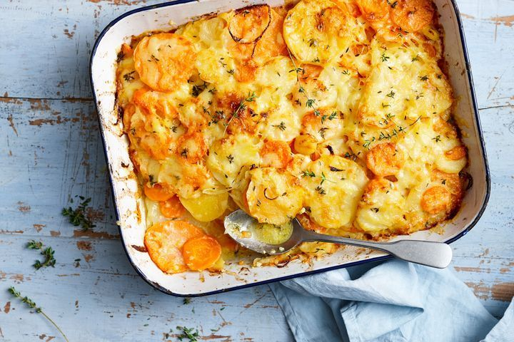 Vegetarian layered winter bake