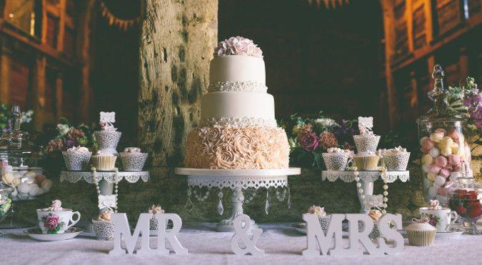 Cheryl's Cake Boutique,Shropshire Wedding Magazine - A vintage-inspired wedding at Pimhill Barn in Shropshire