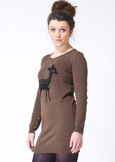 Sugarhill Boutique Deer Print Jumper Dress