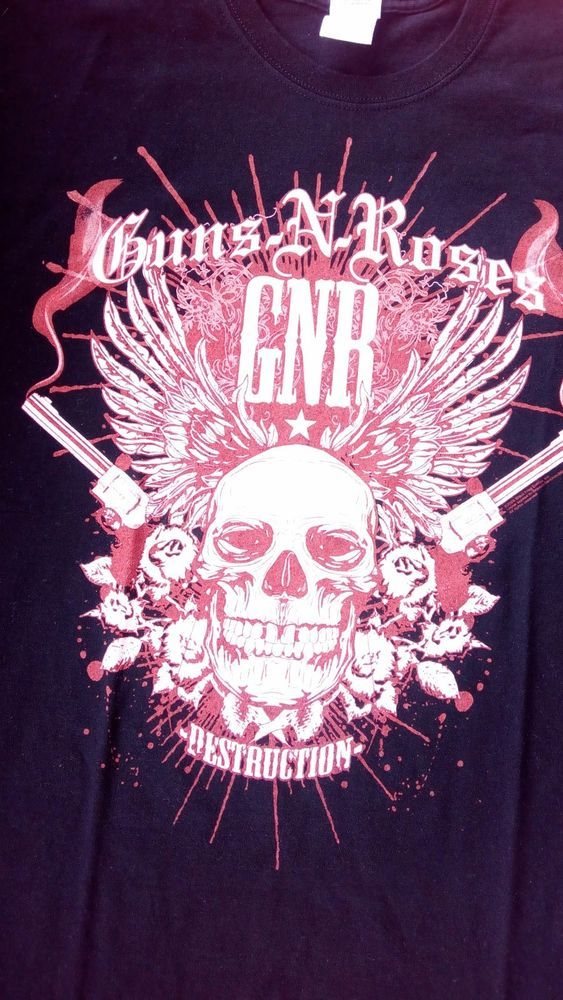 GUNS N ROSES Destruction Chinese Democracy World Tour Men's Large Shirt  #Gildan #GraphicTee