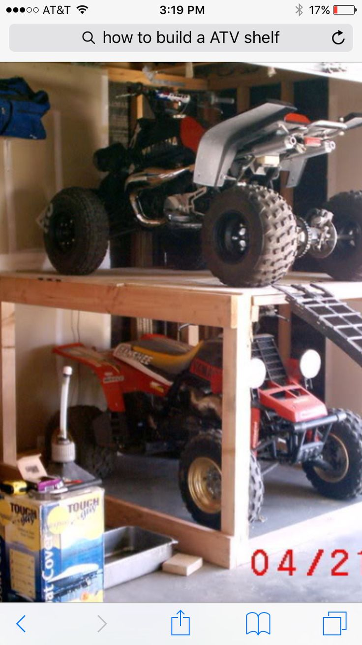 ATV storage shelf