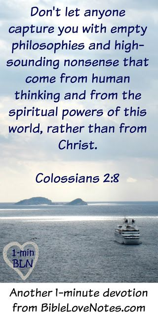 """This 1-minute devotion shares an interesting legend about the word """"Quiz"""" and it provides a look into the human mind that makes the message of Colossians 2:8 so important."""