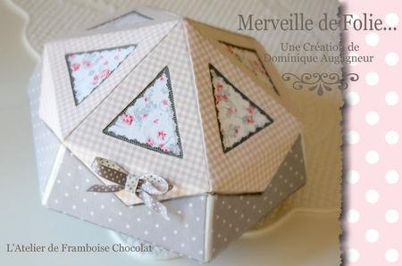 Merveille de Folie (kit) L'Atelier de Framboise Chocolat