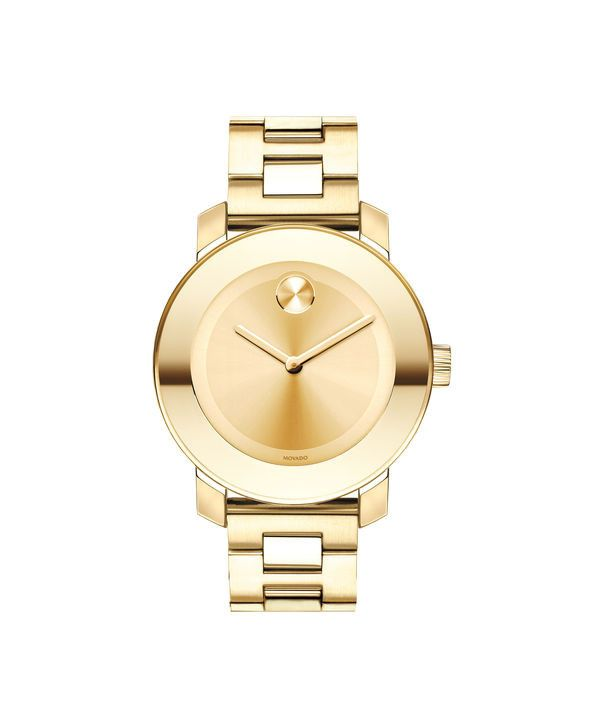 Movado Midsize BOLD Women's Gold-Plated Watch 3600085