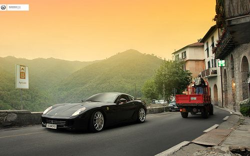 599 GTB in Apricale, Italy shot by me in 2008