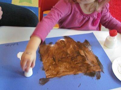 Hot Chocolate Art with Marshmallow paint brush