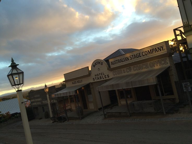 Beautiful sunrise at Sovereign Hill this morning!