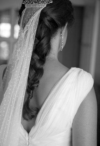 #Sencilla y #elegante. #Velo de #novia de #plumeti