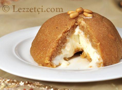 helva with ice-cream-Dondurmalı İrmik Helvası--Orhan GENEL