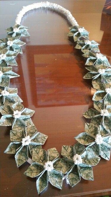 Flower money lei …