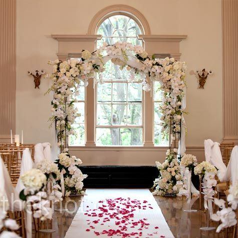 Indoor wedding arch, doesn't have to be this elaborate