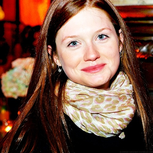 Actress Bonnie Wright has a stunning combination of blue eyes and auburn hair